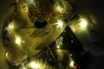 Fuori porta natalizio casetta di stoffa