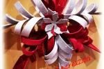 Fuori porta realizzato gomma crepla tipicamente natalizio
