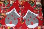 Fuori porta natalizio realizzato tutto in feltro