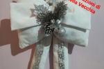 Fuoriporta fiocco bianco e argento