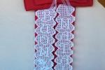 Fuoriporta handmade a crochet con base di stoffa in cotone