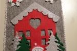 Fuoriporta in feltro con decorazioni varie
