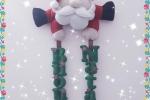 Fuoriporta natalizio in feltro con  babbo natale