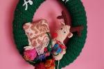 Fuoriporta natalizio uncinetto con renna