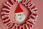 Fuoriporta natalizio uncinetto con babbo natale