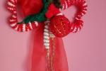 Fuoriporta natalizio uncinetto con fiore