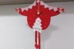 Fuoriporta natalizio realizzato in feltro totalmente a mano