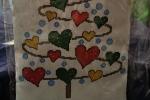 Fuoriporta natalizio imbottito, confezionato e ricamato