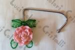 Gancio portaborsa con rosa