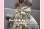 Gattino in stoffa fatto a mano Cat cloth hand made