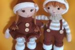 Gemelli Joris and Jodie amigurumi Natale