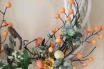 Ghirlanda di Pasqua in arancione
