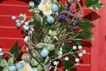 Ghirlanda di Pasqua in azzurro