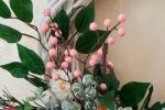 Ghirlanda di Pasqua in rosa