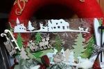 Ghirlanda in polistirolo, 25 cm, decorata con lana, creola e legno