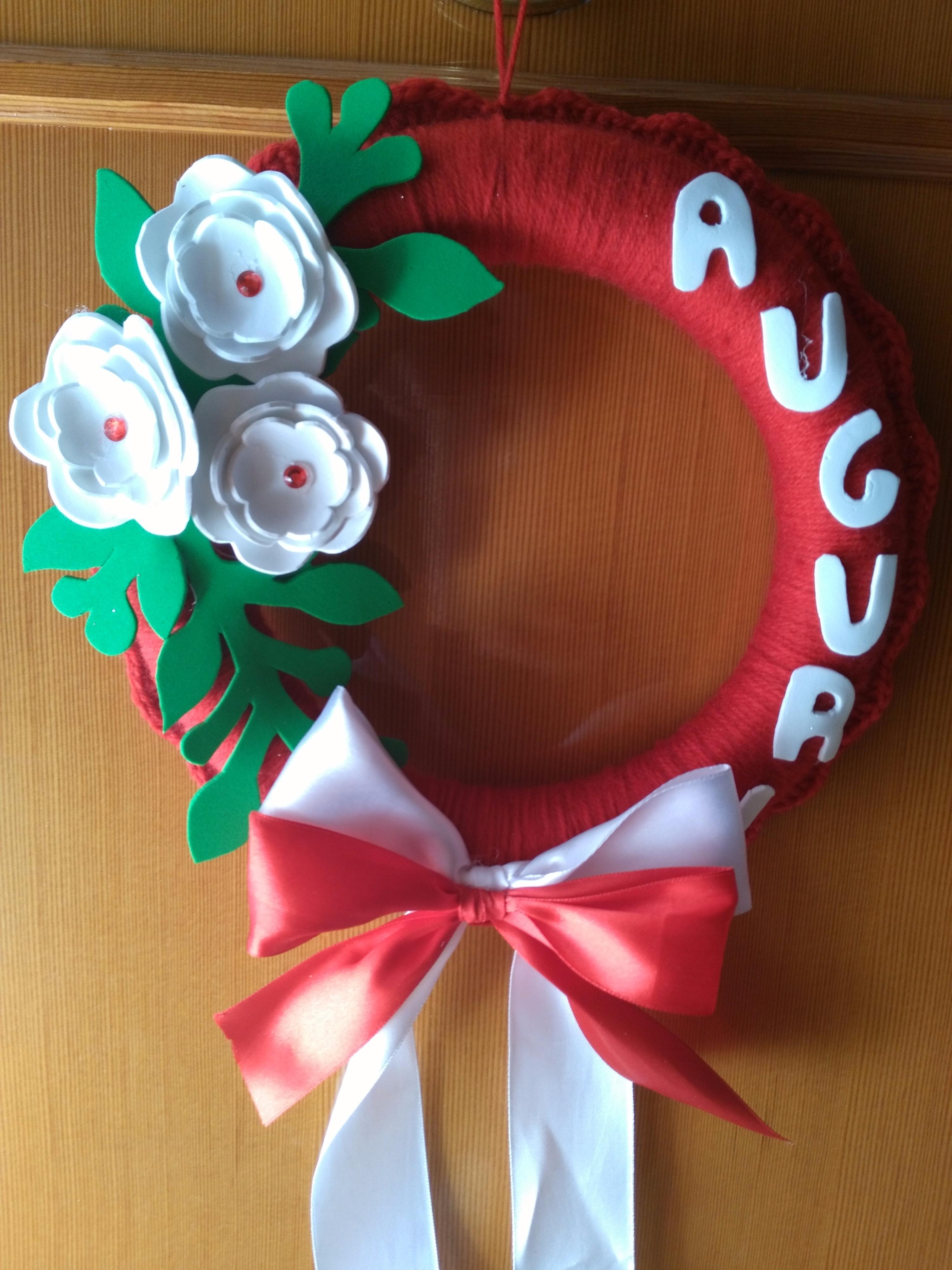 Creazioni Altro Ghirlanda Natale Uncinetto Fatto A Mano Lana