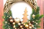 Ghirlanda natalizia fuoriporta 40x40 cm.