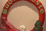 """Ghirlanda """"Pupazzo di neve"""""""