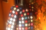 Giacca Granny Square multicolor realizzata in lana