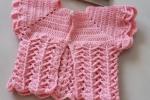 Giacchino neonata rosa in lana