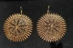 Orecchini in filo d'oro sterling 18k fatti all'uncinetto