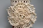 Gioiello,bracciale di puro cotone lavorato a  uncinetto