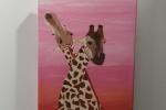 Giraffe Tela 20x30