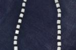 Girocollo-collana in pietra bianca