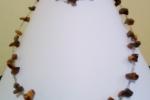 Girocollo e bracciale in chips di pietra dura