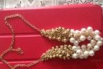 Girocollo perle bianche e dorate