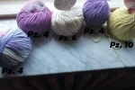 Gomitoli di cotone doppio tipo lana