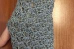 Guanti senza dita in lana grigia
