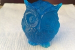 Gufo blu - oggetti in resina - oggetti fatti a mano