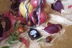 Halloween Skull 3 -ciondolo di vetro dipinto a mano