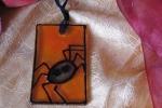 Halloween Spider 1 - ciondolo di vetro dipinto a mano