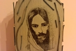 Icona Gesù in legno