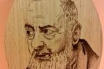 Icona lignea Padre Pio