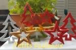 Alberi e stelle in polvere di ceramica
