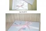Invito comunione bimba con scatola