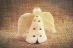 Ciondolo in pelle a forma di angelo