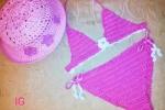 Kit mare per bambina, realizzato a mano all'uncinetto rosa