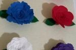 Kit tre fiori in pannolenci/ feltro/ gomma eva
