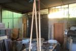 Lampada in legno di Olmo