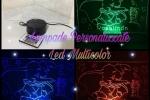 Lampada led personalizzata incisione su plexiglass