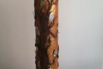 Lampada creata con materiali di riciclo