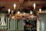 Lampadario rustico 6 luci