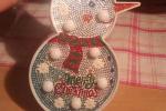 Lampade natalizie con tecnica diamond painting