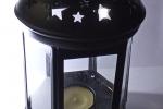 Lanterna in alluminio nero opaco con lumino