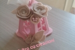 Lanterna in feltro rosa bomboniera e/o segnaposto