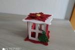 Lanterna natalizia rossa